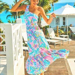 New Lilly Pulitzer Mooney Midi Dress